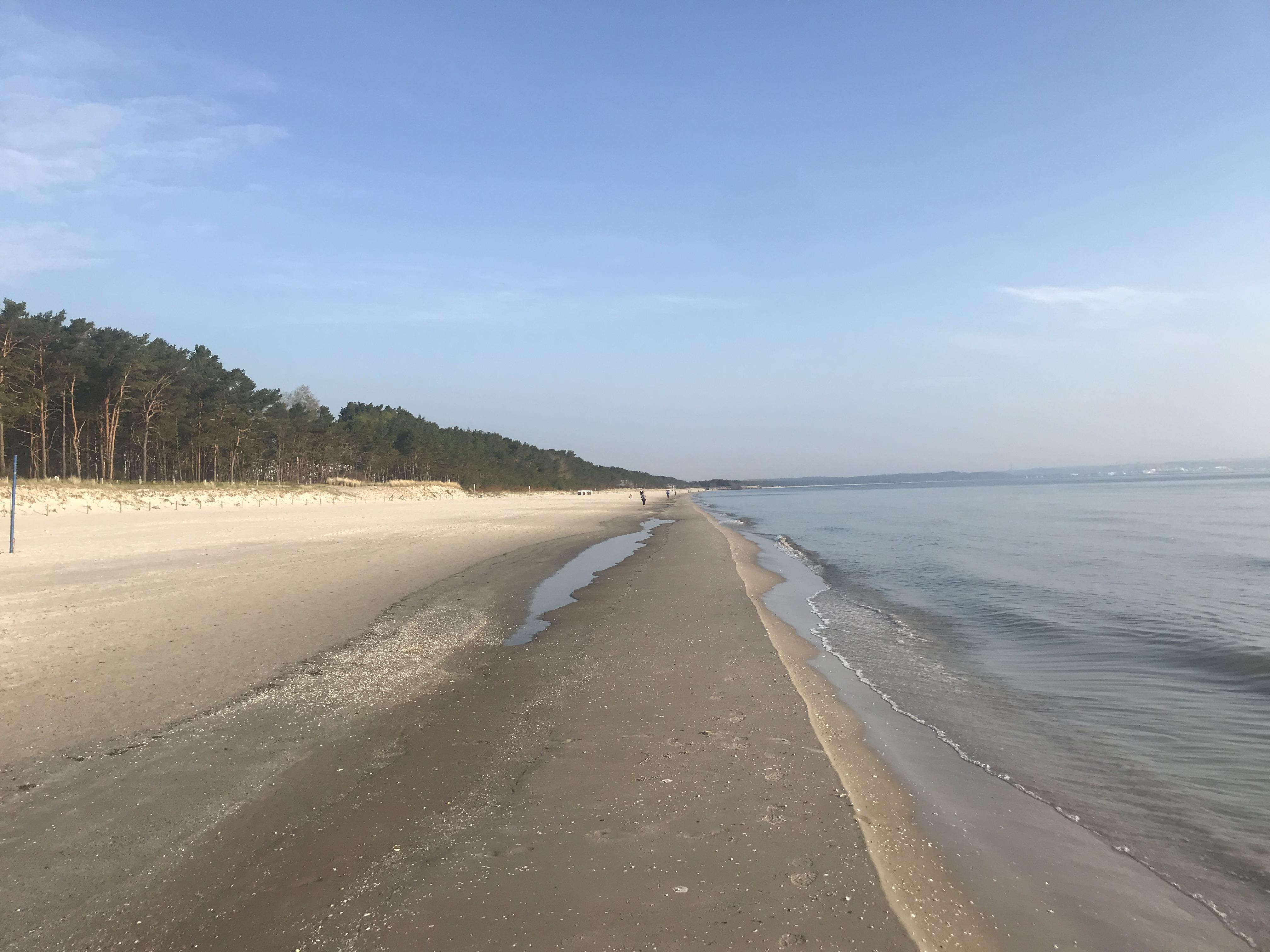 Strand in Prora morgens um 7 Uhr